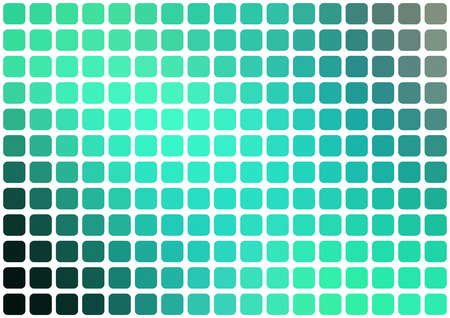 horisontal: abstract green mosaic background with rounded square tiles over white, horisontal format.