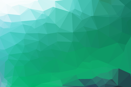 brightly: Green abstract geometric background consisting of colored triangles.