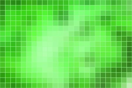 horizontal format: Abstract square mosaic tile green background, horizontal format.