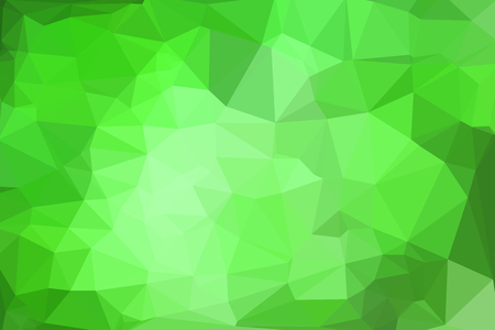 Green abstract geometric background consisting of colored triangles.