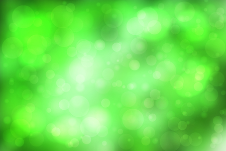 Green abstract smooth blur background with lights over it. Illustration
