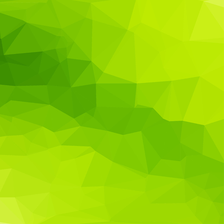 Green abstract square geometric background consisting of colored triangles.