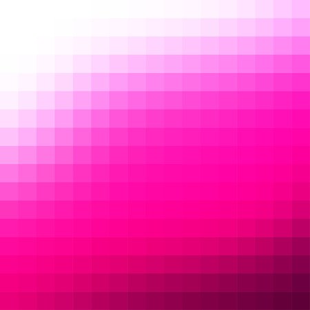 Abstract smooth mosaic tile hot pink background, square format.  イラスト・ベクター素材