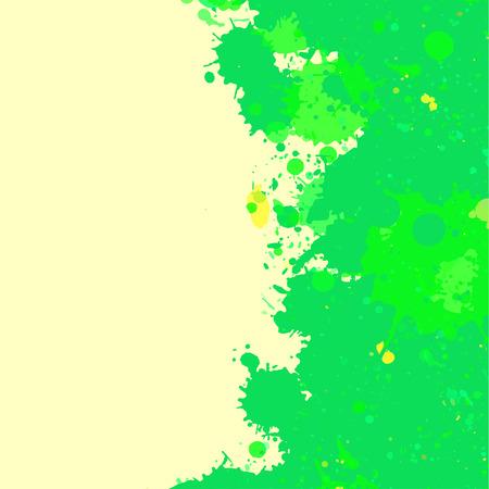 활기찬 밝은 녹색 수채화 예술 스플래시 프레임 텍스트, 사각형 형식으로 프레임.