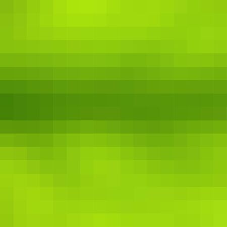 Abstract smooth mosaic tile green background, square format. Illustration