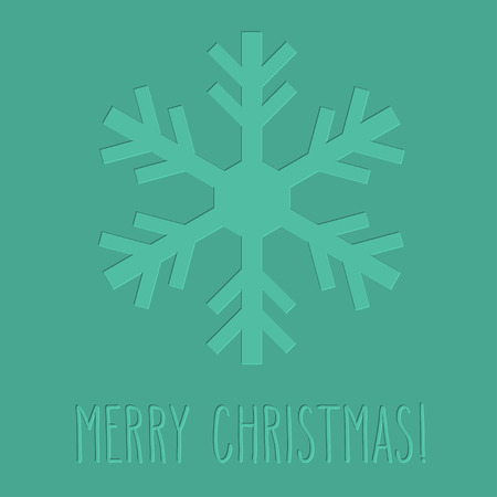 One letterpress embossed snowflake and hand written Christmas greetings.