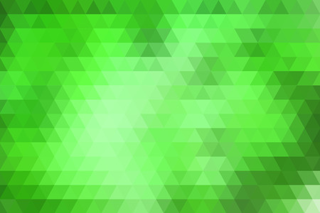 Green abstract geometric background formed with triangles in rows. Illustration