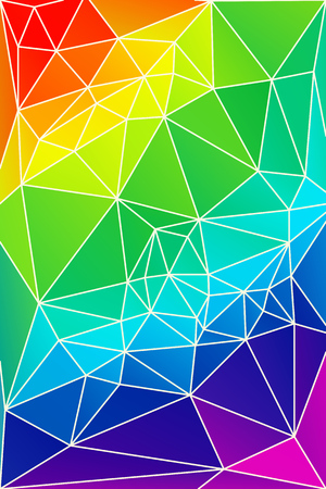 Abstract bright rainbow geometric template pattern design.