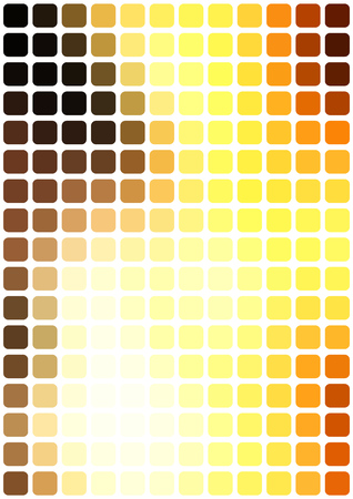 Vector abstract yellow mosaic background with rounded square tiles over white, vertical format. Illustration