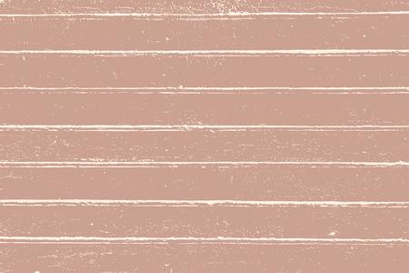 Grunge hout overlay textuur. Vector afbeelding achtergrond in vintage roze over beige, horizontaal formaat.