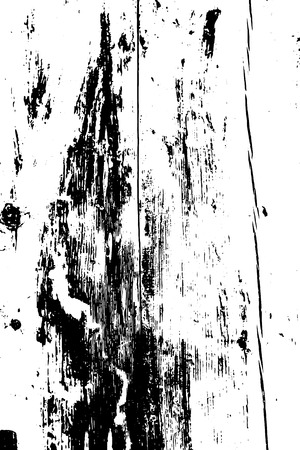 Grunge wood overlay texture. Vector illustration background in black over white, vertical format. Ilustração