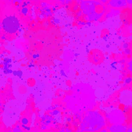 Vibrant bright purple watercolor paint artistic splashes background. Vector texture illustration, square format.