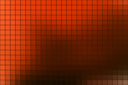 Abstract square mosaic tile orange background for any design, horizontal format. Ilustração