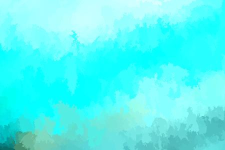 Abstract modern vector background, horizontal format. Digitally generated contemporary wallpaper. Vibrant aqua blue backdrop.