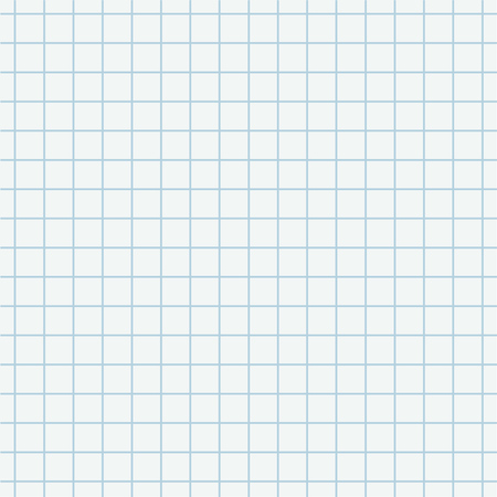 Seamless pattern of white squared school paper sheet.