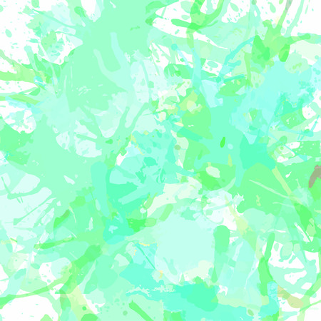 Pastel green artistic paint splashes, square format.