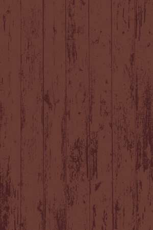 Grunge wood overlay texture. Vector illustration background in dark brown red color, vertical format.