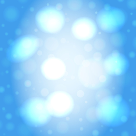 Abstract smooth blur light blue square vector background with bokeh lights.