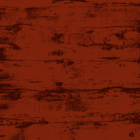 Grunge wood overlay square texture. Vector illustration background in black over dark red. Natural rustic distressed backdrop.