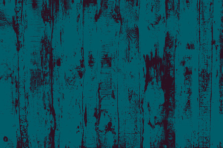 Grunge wood overlay horizontal texture. Vector illustration background in dark teal adn black, horizontal format. Natural rustic distressed backdrop.