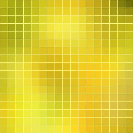 Fondo giallo delle mattonelle del mosaico astratto di vettore, formato quadrato.