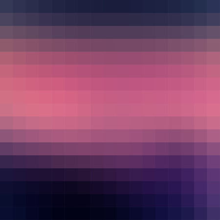 Vector abstract smooth mosaic tile dark pink and blue background, square format.