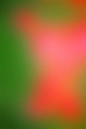 Vector abstract smooth blur orange and green defocused background. Vertical format.