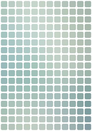 Vector abstract light blueish mosaic background with rounded square tiles over white, vertical format. Ilustração