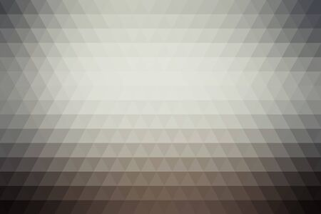 Gray abstract geometric background formed with triangles in rows. Ilustração