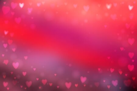 Abstract smooth blur pink background with small heart-shaped lights over it.  イラスト・ベクター素材
