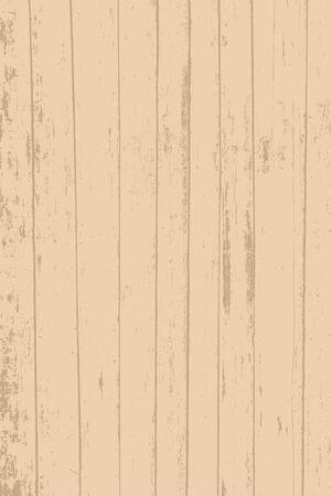 Grunge wood overlay texture. Vector illustration background in light vintage brown color, vertical format.
