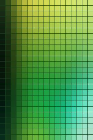 Abstract square mosaic tile green background for any design, vertical format.
