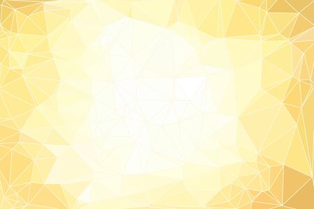Yellow abstract geometric background consisting of colored triangles and light mesh.