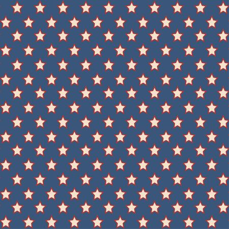 American patriotic stars seamless pattern in vintage colors. Independence day vector background.