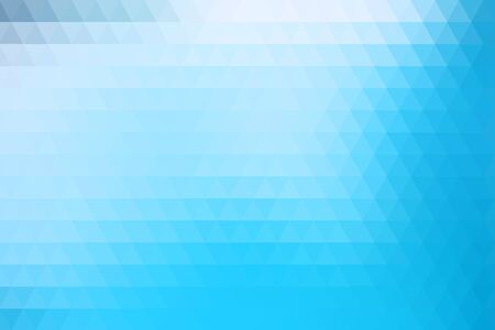 Blue abstract geometric background formed with triangles in rows. Ilustração