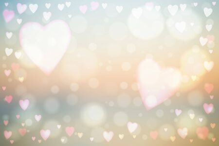 Abstract smooth blur beige background with heart-shaped lights over it. 写真素材 - 139824674