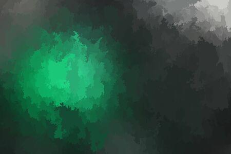 Abstract modern vector background, horizontal format. Digitally generated contemporary wallpaper. Dark green backdrop.