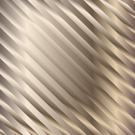 Muted bronze gradient diagonal stripes pattern. Abstract modern vector background. Shiny metal wallpaper.