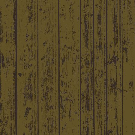 Grunge wood overlay square texture. Vector illustration dark brown background. Natural rustic distressed backdrop.