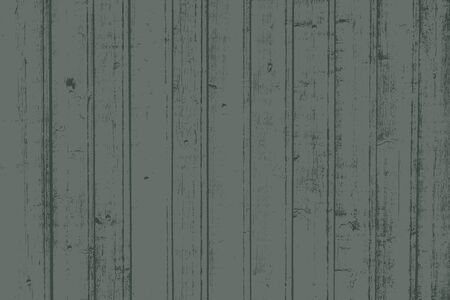 Grunge wood overlay horizontal texture. Vector illustration background in dark muted green, horizontal format. Natural rustic distressed backdrop.