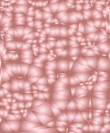 Rose golden metal gradient bubbles pattern. Abstract modern vector background. Shiny metallic vertical wallpaper.
