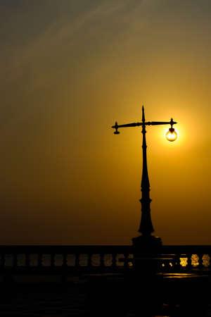 lighting sunset Stock Photo