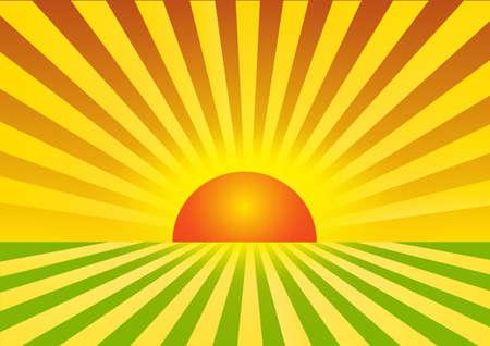 sunset background illustration Illustration