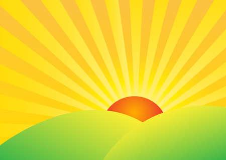 sunrise background illustration Иллюстрация