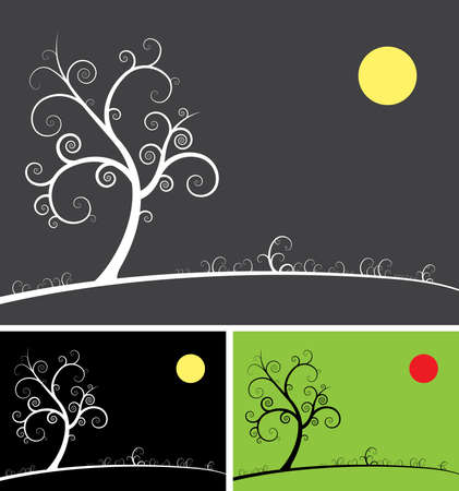 spiral tree 向量圖像