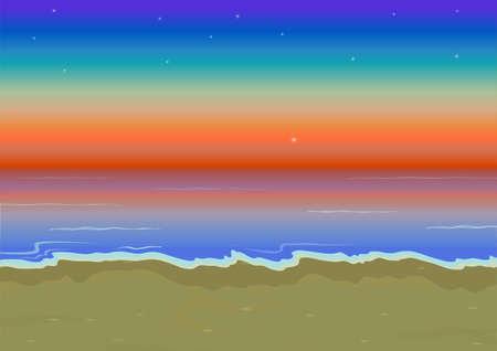gloaming: beach at sunset
