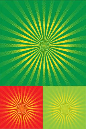 color halftone sun light Stock Vector - 20434594