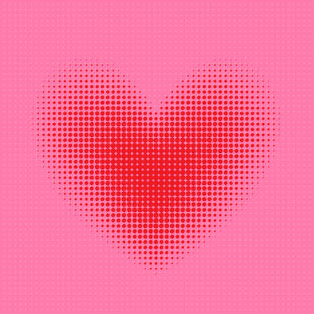 heart pixel halftone Vector