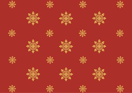 thai silk: Thai art pattern