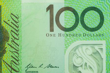 Close up on Australian dollar banknotes. shown detail on the banknotes. Shooting by 1:1 Macro lense. 版權商用圖片